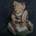 The Leonardo collection Tender Teddies Indian with axe and shield
